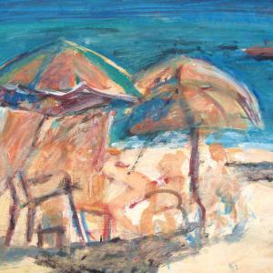 Mar I, 51 x 61, mixed media on wood, 2000