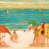 Papagayos y la playa, 73 x 50 cm, oil on canvas, 2007 (private collection