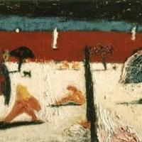 Playa naranja, 33 x 24 cm, oil on canvas, 2001