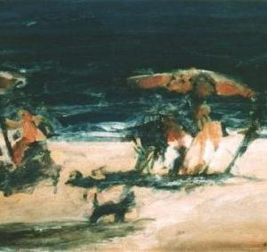 Mar II, 61 x 51 cm, mixed media on wood, 2000 (private collection)