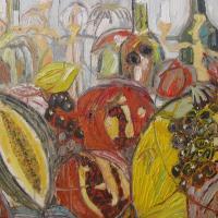 Fiesta de otoño XII, 55 x 46 cm, mixed media, 2010