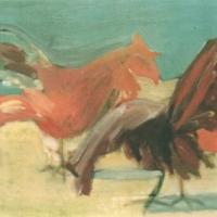 Sin título, 48 x 41,5 cm, óleo sobre tela, 1997