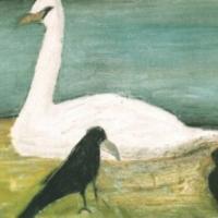 El cisne, 50 x 65 cm, óleo sobre tela, 2001 (colección privada)