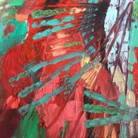 El choque I 55 x 33 cm, oil on canvas, 2020