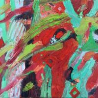 El choque II 55 x 33 cm, oil on canvas, 2020
