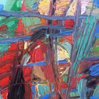 El choque III 55 x 33 cm, oil on canvas, 2020