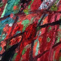 El choque IV 55 x 38 cm, oil on canvas, 2020
