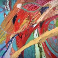Fuerzas midiendose II 92 x 73 cm, oil on canvas, 2020