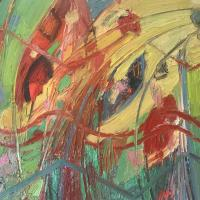 Fuerzas midiendose III 80 x 60 cm, oil on canvas, 2020