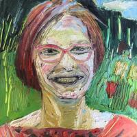 Monika 40 x 40 cm Oil on canvas, 2019